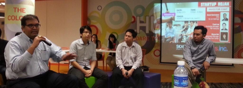 Investors talking at Startup Rojak