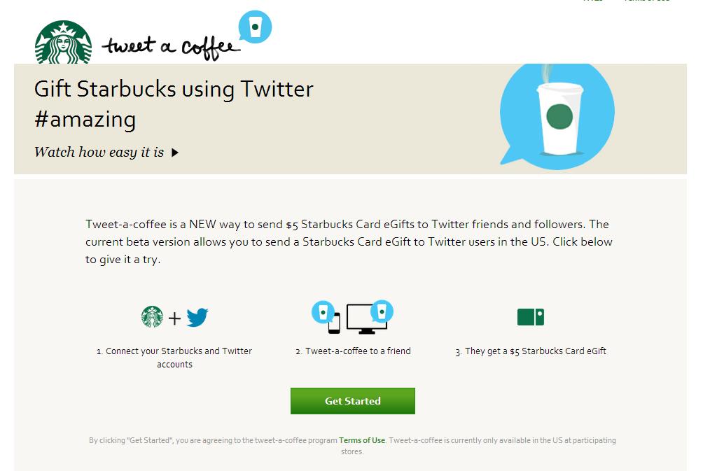 Tweet A Coffee   Starbucks Coffee Company
